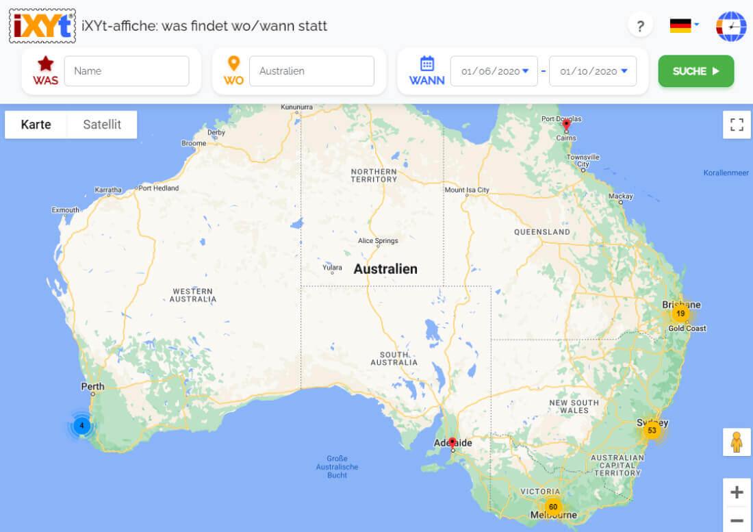Australien: Was ist in verschiedenen Städten zu sehen, was sind sie?