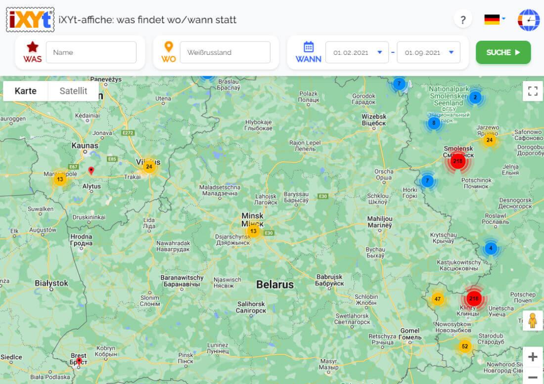 Belarus: Was ist in verschiedenen Städten zu sehen, was sind sie?