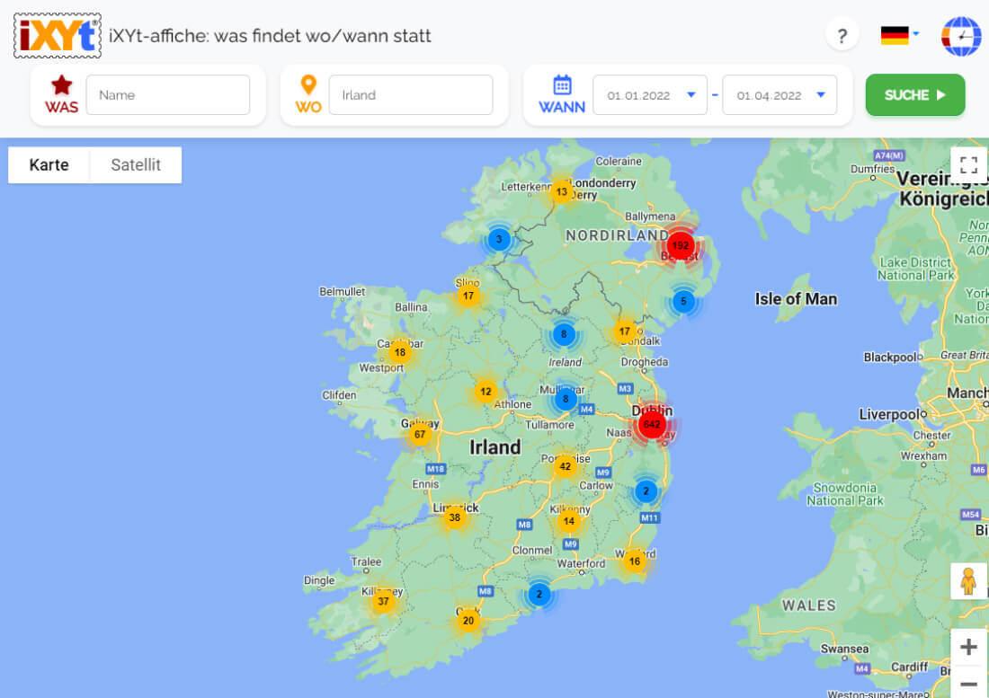 Irland: Was ist in verschiedenen Städten zu sehen, was sind sie?