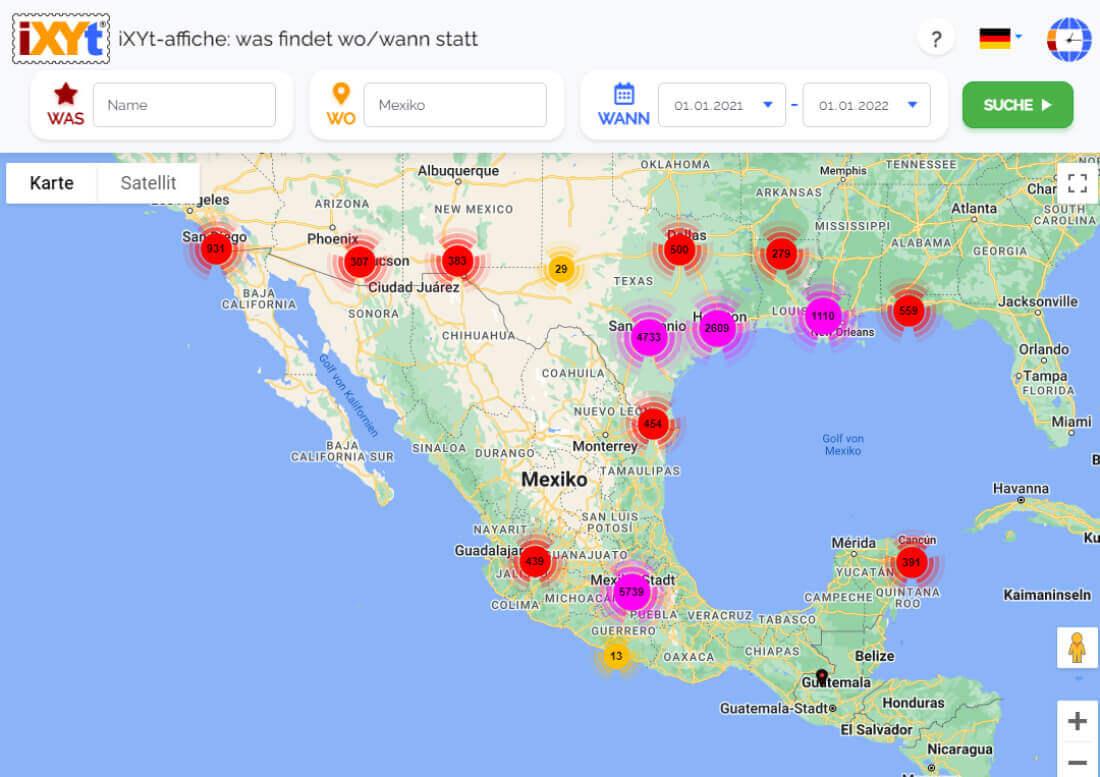 Mexiko: Was ist in verschiedenen Städten zu sehen, was sind sie?