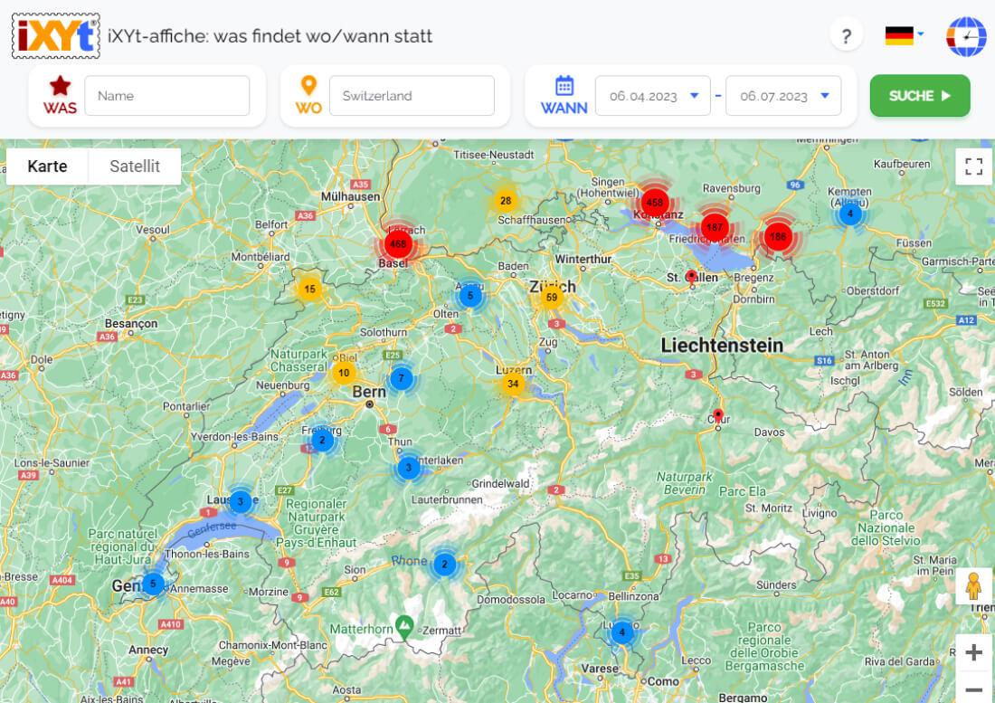 Schweiz: Was ist in verschiedenen Städten zu sehen, was sind sie?